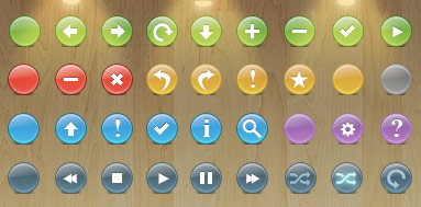 knobs icon set