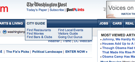 washingtonpost menu
