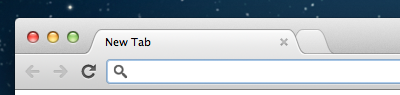 Chrome's labelless new tab button turned into a tab
