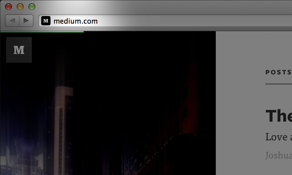 medium.com loading bar