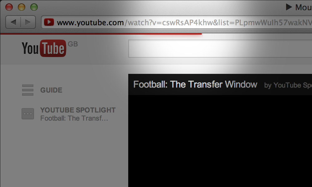 youtube.com loading bar